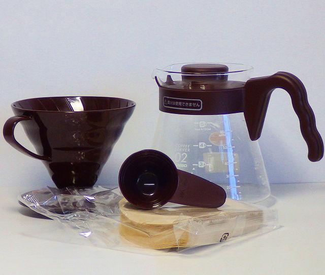 ハリオV60コーヒーサーバー02セットの構成品